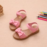 Lovely Bowknot Velcro Sandals for Toddler and Kid