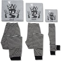 Haunted Castle Striped Halloween Pajamas for The Family