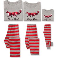 Foxy Family Red Stripe Family Pajamas
