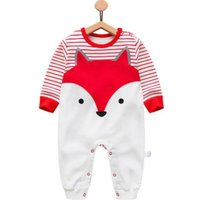 Wee Fox Cotton Jumpsuit in Red Unisex