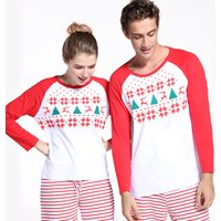 X-mas Deer and Christmas Tree Contrast Shirts for Family