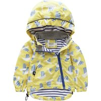 Trendy Bird Pattern Hooded Jacket for Baby and Toddler Girl