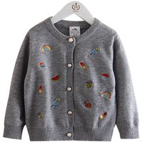 Adorable Embroidered Knit Cardigan for Baby and Toddler Girls