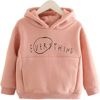 Solid Letter Hoodie for Kids