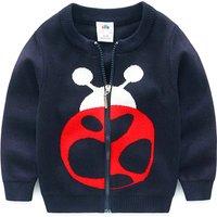 Cute Ladybird Knit Cardigan for Boys