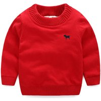 Bright Solid Ribbed Pullover for Toddler/ Kid