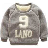 Cute Number Print Fleece Top for Toddler Boy/Boy