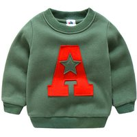 """Trendy """"A"""" Print Color-blocking Pullover for Toddler Boy/Boy"""