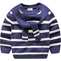 Preppy Style Stripes Sweater for Boys