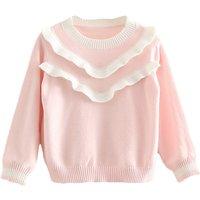 Girl's Sweet Ruffles Sweater