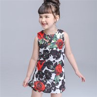 Gorgeous Floral Color-blocking Sleeveless Dress for Toddler Girl/Girl