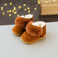 Comfy Solid Faux-fur Snow Boots for Baby and Infants