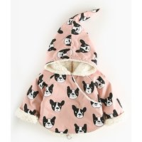 Lovely Dog Print Hooded Coat for Baby