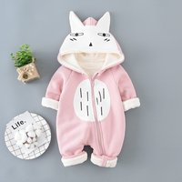 Sweet Fox Design Hooded Long-sleeve Jumpsuit for Baby
