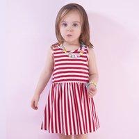Baby and Toddler Girl's Stripes Sleeveless Beach Dress