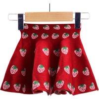 Baby Girl's Pretty Strawberry Pleated Skirt