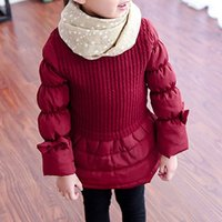 Beautiful Bowknot Cotton Long Sleeves Dress for Girls
