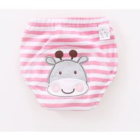Super Comfy Cute Graphic Appliqued Striped Underwear for Babies