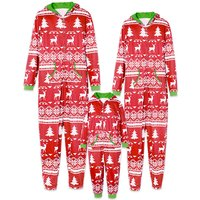 Holly Jolly Hooded Christmas Pajamas for Family