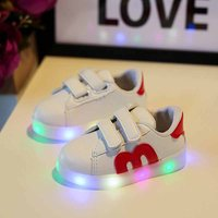 Awesome LED Velcro Appliqued Shoes for Toddler and Kid