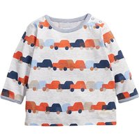 Lovely Cars Print Long-sleeve Tee for Baby and Toddler