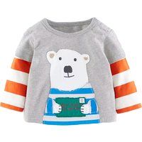Lovely Bear Print Long-sleeve Pullover for Baby and Toddler Boys