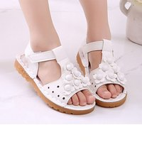 Beautiful Flower-accented Sandals for Girls