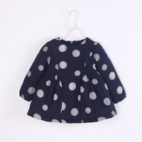 Sweet Polka Dots Cotton-lined Long Sleeve Dress for Baby and Toddler Girls