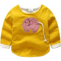 Funny Elephant Applique Long-sleeve Pullover for Baby and Toddler