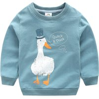 Quack Duck Print Long-sleeve Pullover for Little Boys