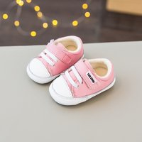 Contrast Lace-up Velcro Shoes for Infant and Toddlers
