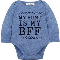 MY AUNT IS MY BFF Bodysuit in Blue