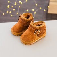 Baby Solid Fleece-lined Snow Boots