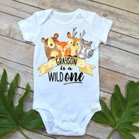 Adorable Animal Print Short-sleeve Bodysuit for Baby