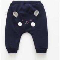 Baby Cute Pattern Fleece-lined PP Pants