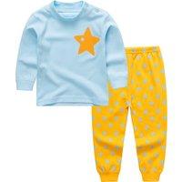 2-piece Star Printed Top and Pants Pajamas for Babies