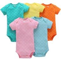 5-pack Polka Dots Pattern Bodysuit for Baby