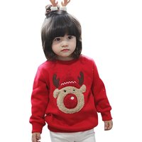 Lovely Cartoon Print Long-sleeve Top for Baby