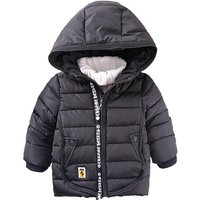 Sporty Hooded Zip-up Quilted Coat for Baby and Toddler Boy