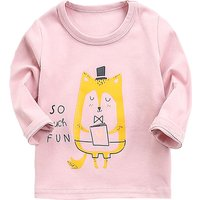 Adorable Fox Print Long-sleeve Top for Baby