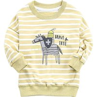 Awesome Knight Print Striped Long-sleeve Top for Baby