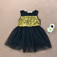 Stylish Glitter Sleeveless Tulle Dress for Baby and Toddler Girls