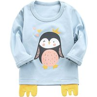 Adorable Penguin Print Long-sleeve T-shirt for Baby
