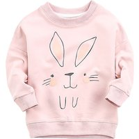 Adorable Rabbit Print Sweatshirt for Baby