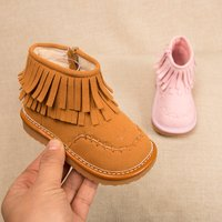 Baby and Toddler Girl's Pretty Solid Tassel Boots