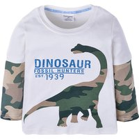 Cool Dinosaur Print Long-sleeve T-shirt for Baby and Toddler Boy