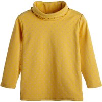 Sweet Polka Dots Printed Turtleneck Long Sleeve Top for Baby and Toddler Girls