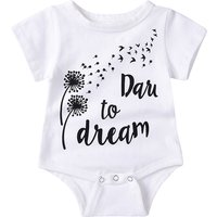 Sweet Letters Print Short-sleeve Bodysuit for Babies