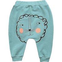 Adorable Lion Print Cotton Pants for Baby