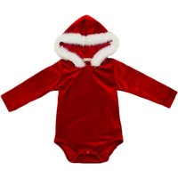 Glossy Hooded Long-sleeve Bodysuit for Baby